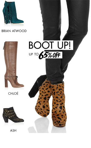 BOOTS - Up to 65% off