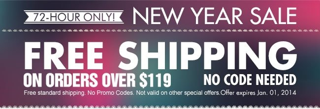 NEW YEAR SALE FREE SHIPPING
