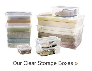 Our  Clear Storage Boxes »