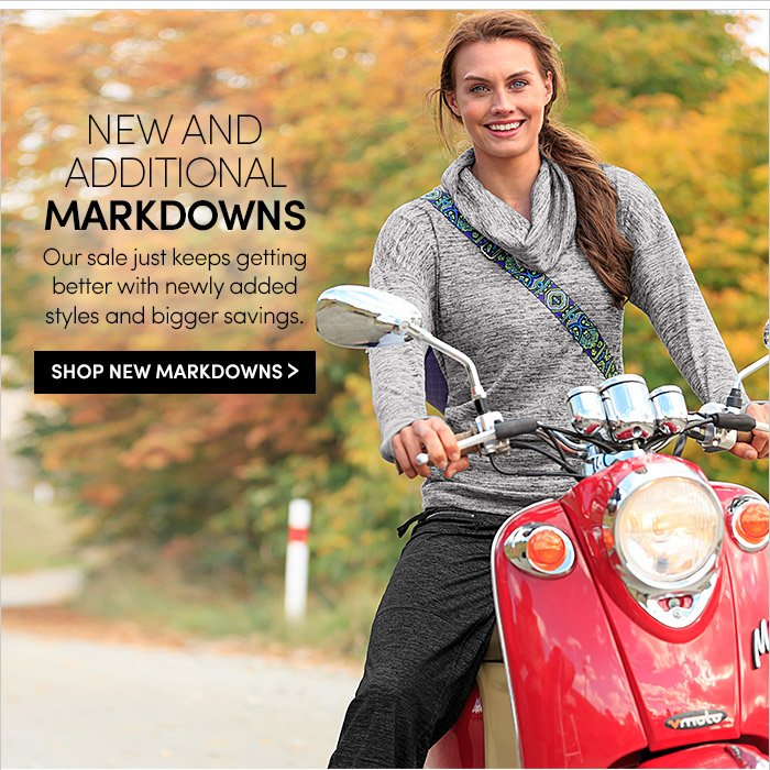 NEW AND ADDITIONAL MARKDOWNS | SHOP NEW MARKDOWNS