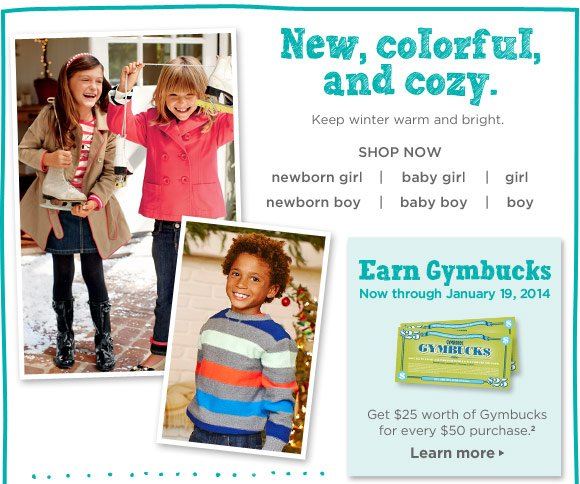 New, colorful, and cozy. Keep winter warm and bright. Shop Now.