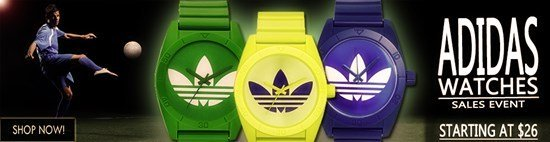 Save up to 61% during the Adidas Watches sales event
