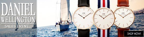Save up to 43% during the Daniel Wellington Watches sales event