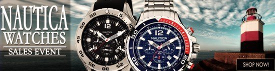 Save up to 51% during the Nautica Watches sales event
