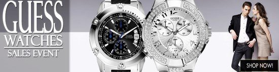 Save up to 42% during the Guess Watches sales event