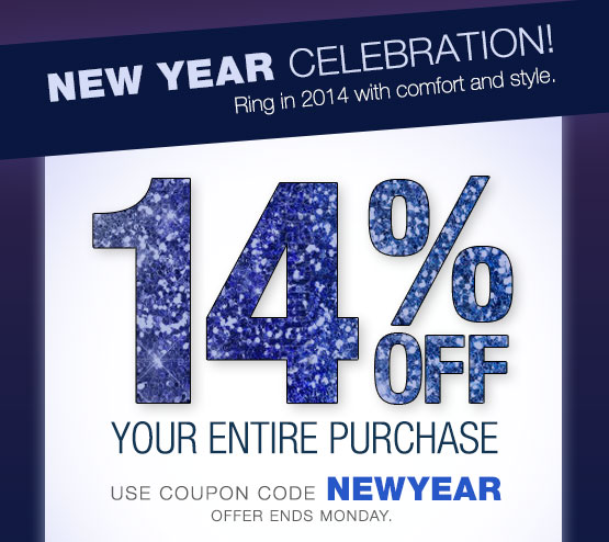 New Year Celebration! 14% OFF your entire purchase