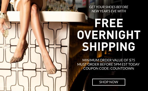 Free Overnight Shipping On Orders Over $75 with Coupon Code COUNTDOWN. Order Before 5pm EST on 12.30!