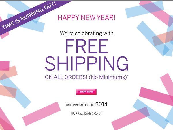 Free Shipping with promo code 2014.