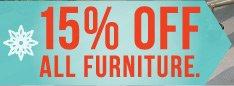 A sale  on furniture.