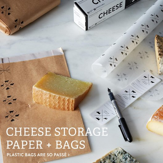 Cheese Storage Paper + Bags