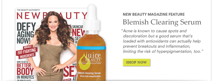 New Beauty Magazine Feature - Blemish Clearing Serum
