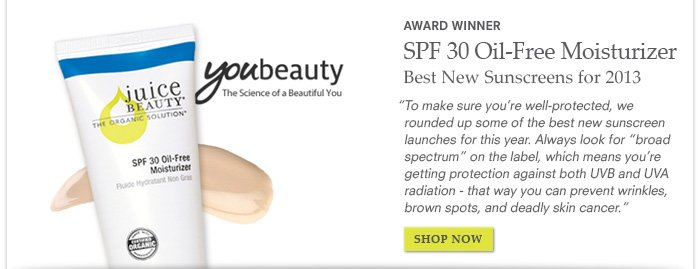 Award Winner - SPF 30 Oil-Free Moisturizer