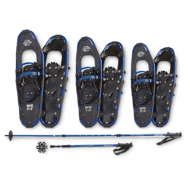 Guide Gear® High Pass Snowshoe / Pole Combo