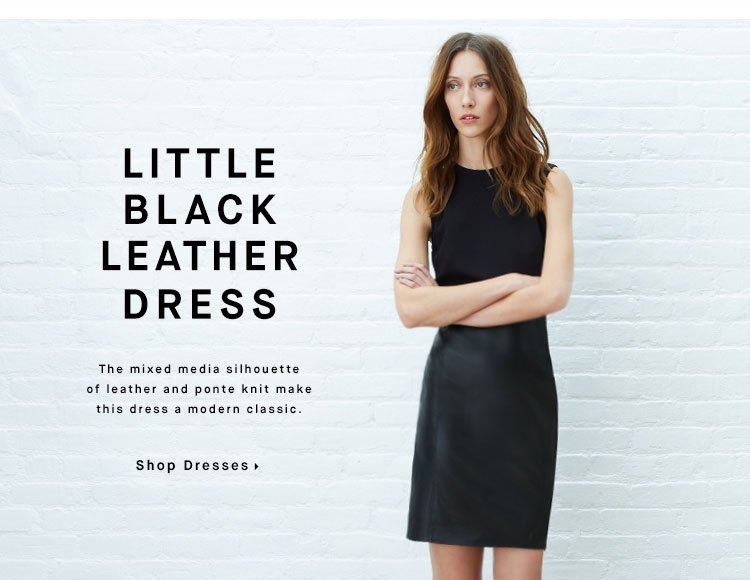 LITTLE BLACK LEATHER DRESS - Shop Dresses