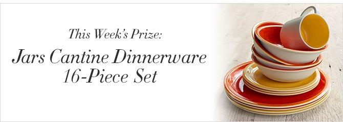 This Week's Prize: Jars Canteen Dinnerware 16-Piece Set