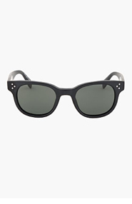 OLIVER PEOPLES Black matte Midnight Express Afton Sunglasses for women