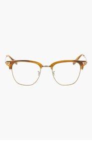OLIVER PEOPLES Beige BANKS Horn rim glasses for women