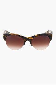 OLIVER PEOPLES Brown tortoiseshell Louella Horn rim glasses for women