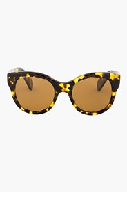 OLIVER PEOPLES Gold tortoiseshell JACEY sunglasses for women