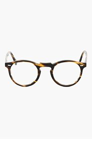 OLIVER PEOPLES Brown tortoiseshell GREGORY PECK glasses for women