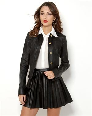 Pierre Balmain Button-Up Leather Jacket - Made in Italy