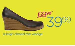 a-leigh closed toe wedge