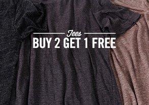 Shop Buy 2 Get 1 Free: Essential Tees