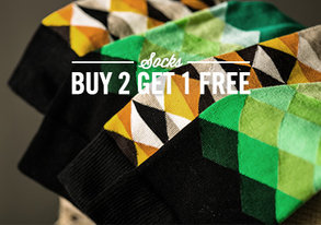 Shop Buy 2 Get 1 Free: Socks from $10