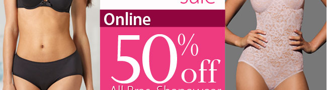 Online save 50% off all Bras Shapewear and Panties