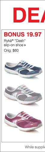 "Deals of the Day - Today Online Only!  BONUS 19.97 Rykä ""Dash"" slip-on shoe."