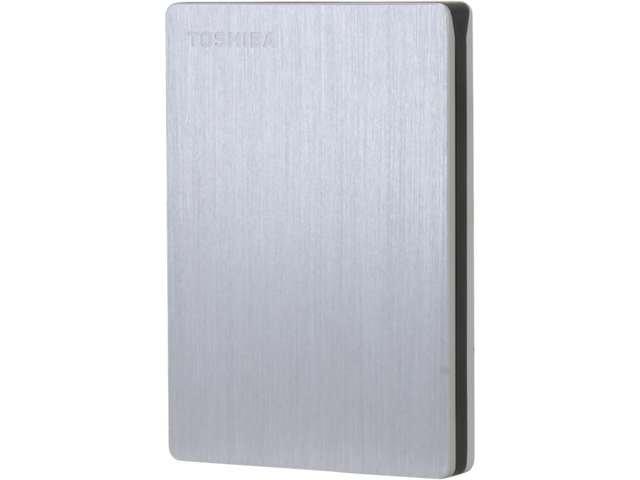 TOSHIBA Canvio Slim II 1TB Silver Portable External Hard Drive for PCs
