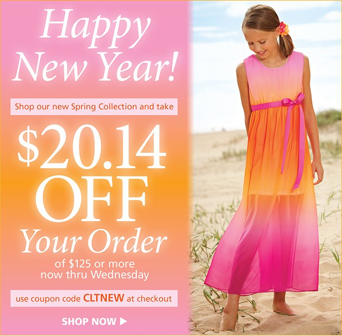 Save $20.14 on orders $125 and up with code CLTNEW at checkout