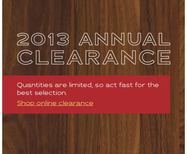 2013 Annual Clearance