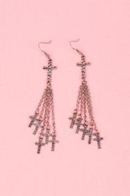 Hanging by a Cross Earrings