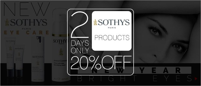 20% Off Sothys Products - 2 Days Only