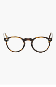OLIVER PEOPLES Brown & gold tortoiseshell GREGORY PECK glasses for men