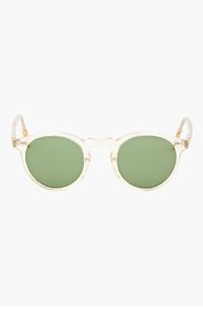 OLIVER PEOPLES Transparent Green Gregory Peck Round Sunglasses for men