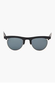 OLIVER PEOPLES Matte black OP-4 limited edition vintage-style sunglasses for men