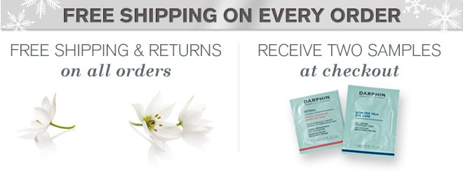Free shipping and returns on all orders.