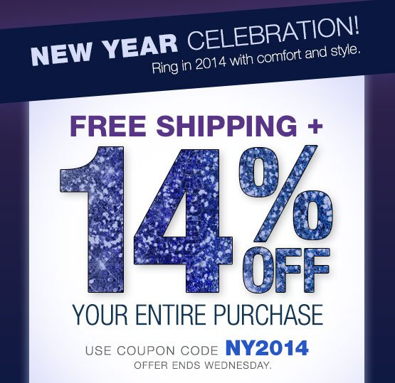 New Year Celebration! FREE SHIPPING + 14% OFF your entire purchase