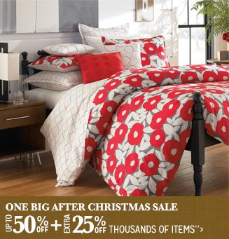 One Big After Christmas Sale - Up to 50% + 25% off Thousands of Items**