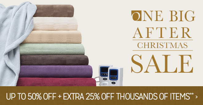 One Big After Christmas Sale - Up to 50% off + Extra - 25% off Thousands of Items**
