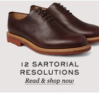 12 Sartorial Resolutions. Read & shop now