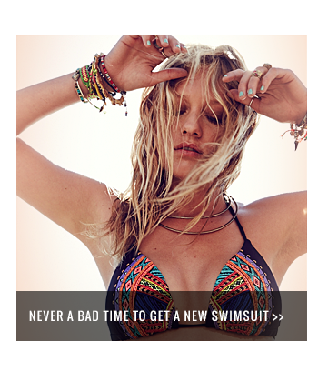 Never a bad time to get a new swimsuit
