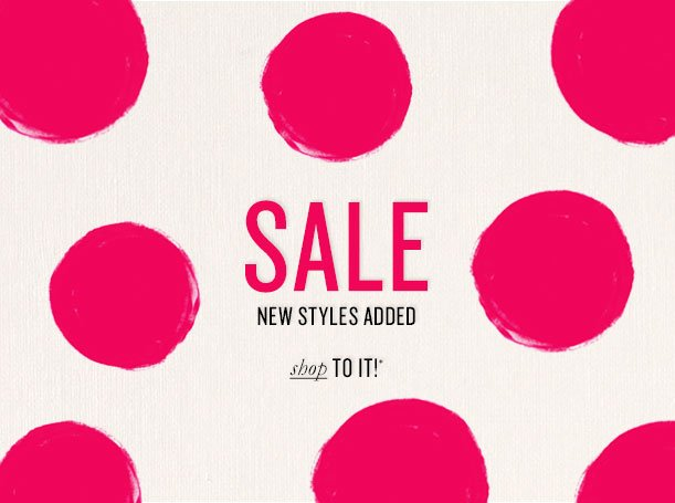 SALE NEW STYLES ADDED Shop to it!