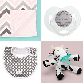 Bibs, Pacifiers & Blankets Collection