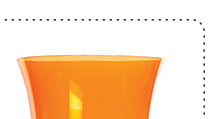 NEW cheval orange wine glass 5.50