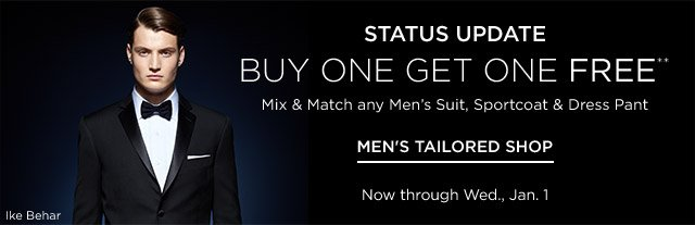 Buy One Get One Free Men's Suits & more