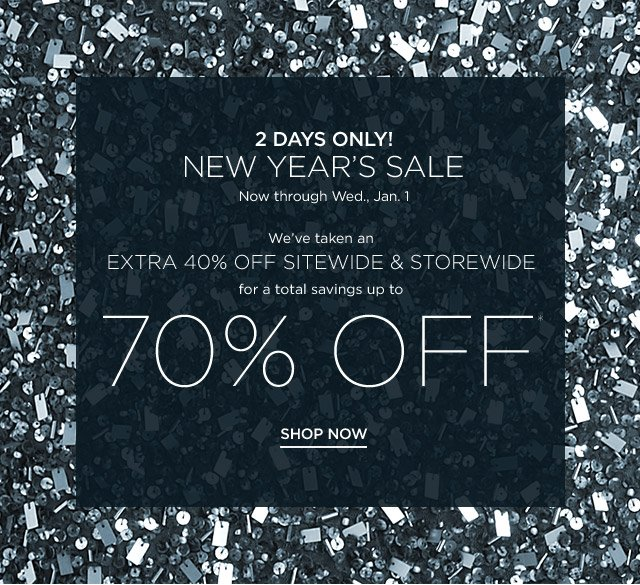 Up to 70% off New Year's Sale