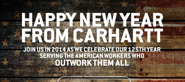 HAPPY NEW YEAR FROM CARHARTT